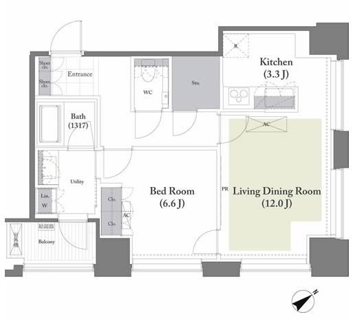 ベイサイド竹芝1501号室