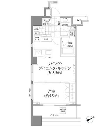 パークハビオ西新宿1006号室