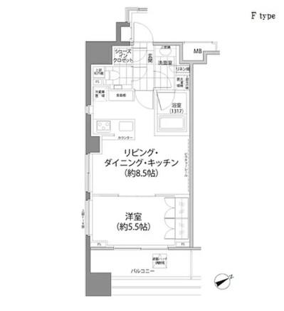 パークハビオ西新宿1206号室