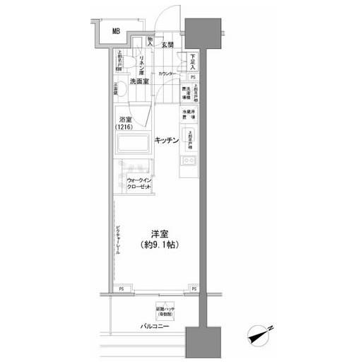 パークハビオ西新宿1305号室