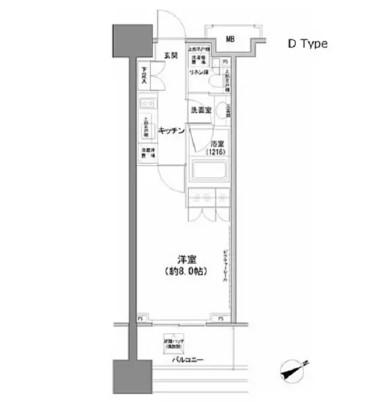 パークハビオ西新宿804号室