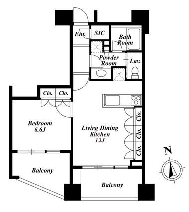 プレミアロッソ1302号室