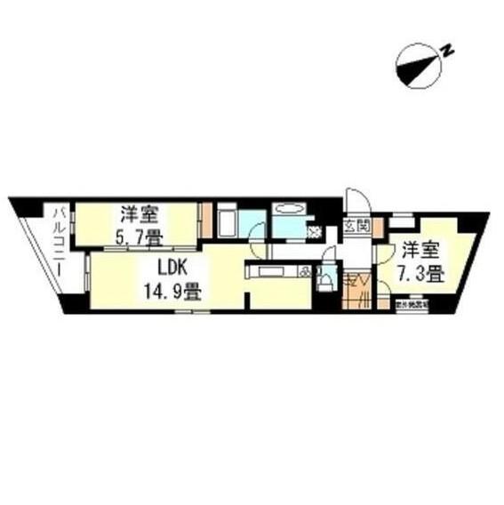 THEパームス代々木上原コスモテラス303号室