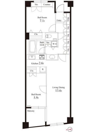 グレンパーク半蔵門205号室