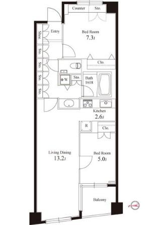 グレンパーク半蔵門404号室