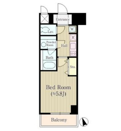 REGZE白金高輪306号室