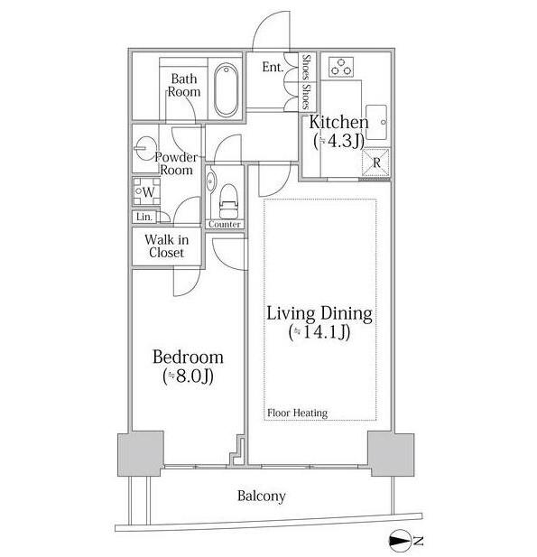 河田町ガーデン クラブフロア3304号室