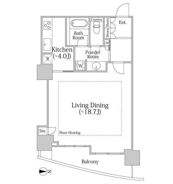 東急V.R.市ヶ谷河田町3406号室