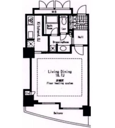 東急V.R.市ヶ谷河田町3506号室