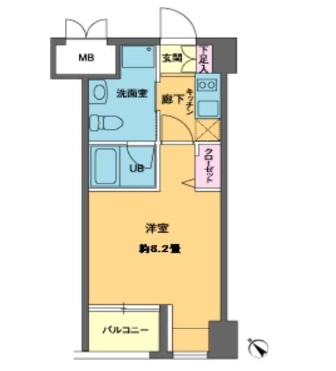ニューシティアパートメンツ新川Ⅱ603号室
