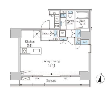 グランディオール広尾テラス1104号室