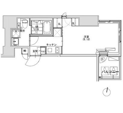グランディオール広尾テラス1105号室