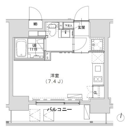 グランディオール広尾テラス504号室