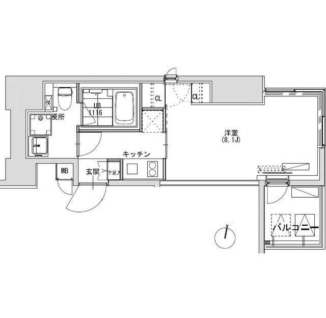 グランディオール広尾テラス707号室