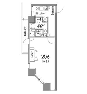 カスタリア中目黒206号室