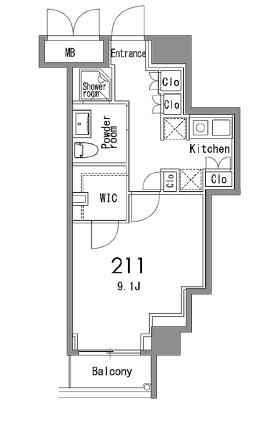 カスタリア中目黒211号室