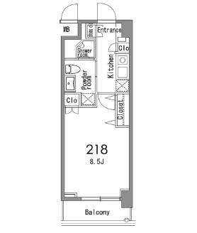 カスタリア中目黒218号室