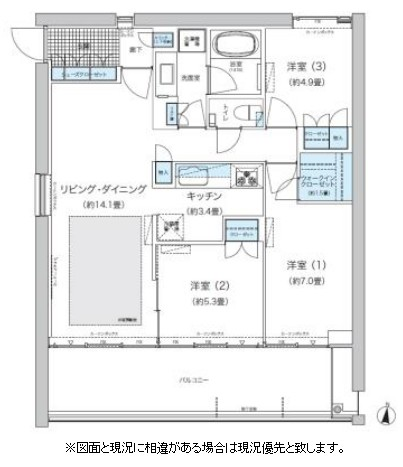 ガーデニエール砧 WEST603号室