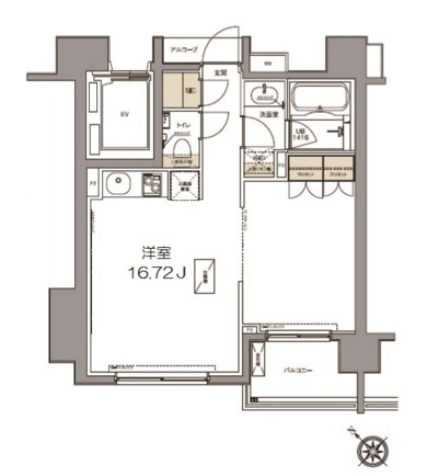 ガーデニア赤坂502号室