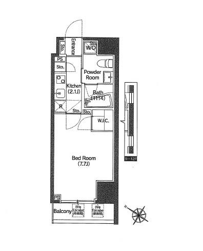 アジールコート新宿1003号室