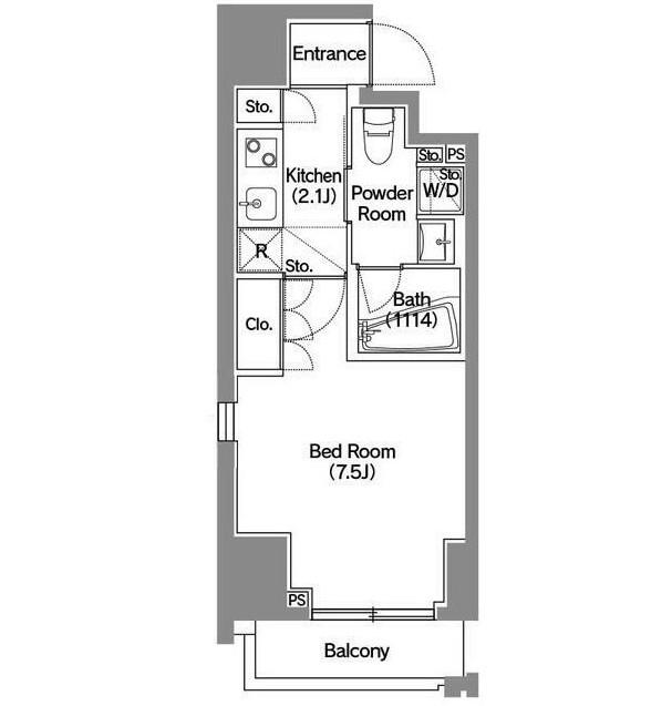 アジールコート新宿1301号室