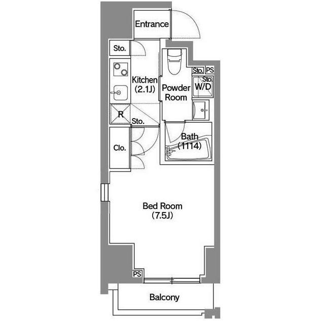 アジールコート新宿1401号室