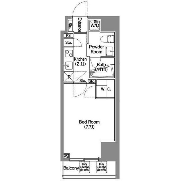 アジールコート新宿203号室