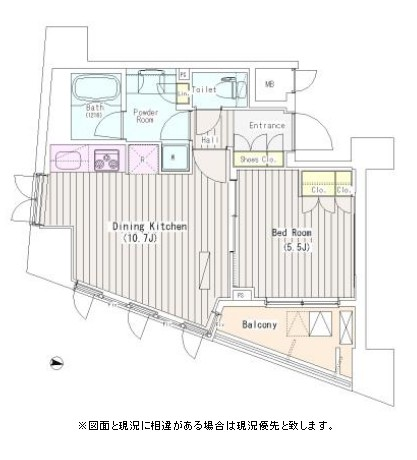 i-Suite HigashiNakano205号室の図面