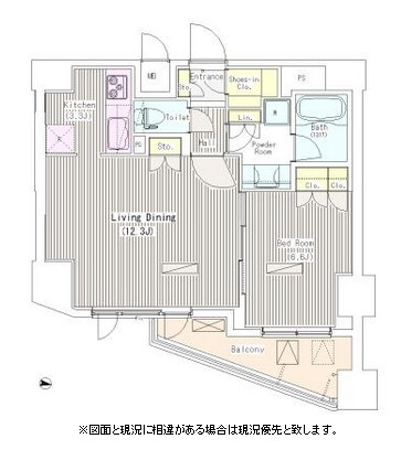 i-Suite HigashiNakano806号室の図面