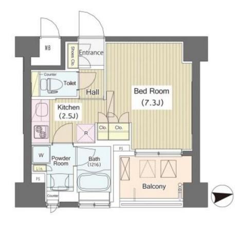 i-Suite HigashiNakano808号室