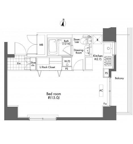 プライムアーバン初台1101号室