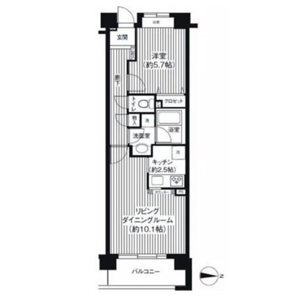 アボリアスコート笹塚102号室