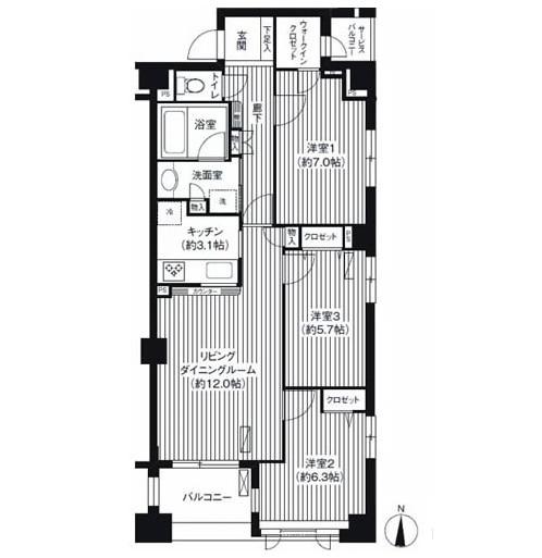 アボリアスコート笹塚605号室