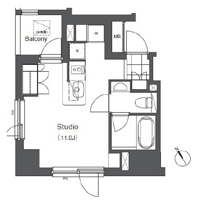 アパートメンツ浅草橋リバーサイド1101号室