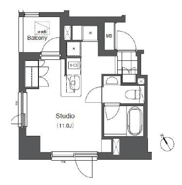アパートメンツ浅草橋リバーサイド501号室