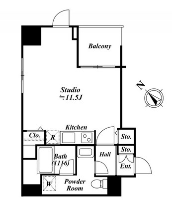 アクロス目黒タワー1207号室