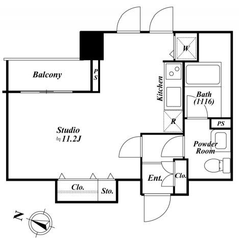 アクロス目黒タワー1208号室