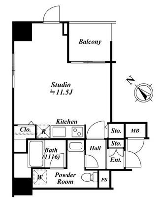 アクロス目黒タワー1307号室