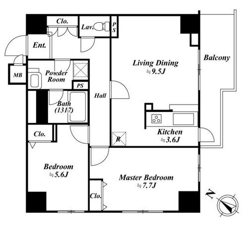 アクロス目黒タワー802号室