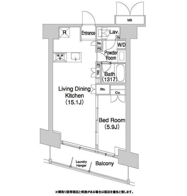 コンフォリア芝浦バウハウス1305号室