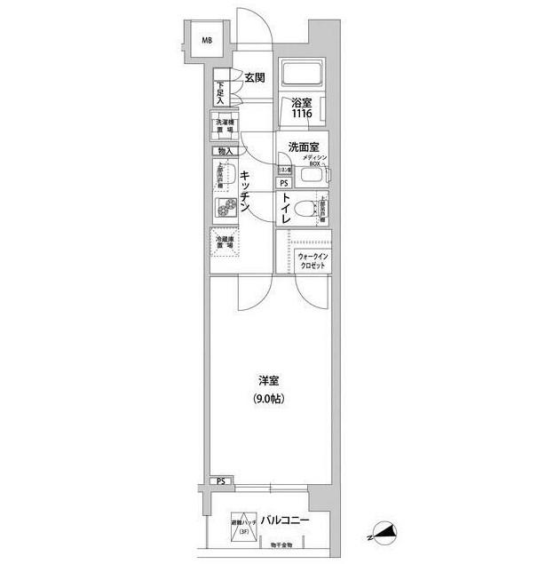 コンフォリア目黒青葉台116号室