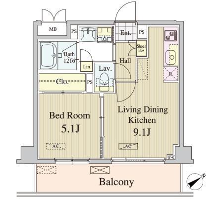 アンソレイユ代々木106号室
