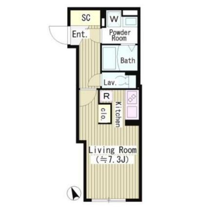 ルオーレ恵比寿204号室