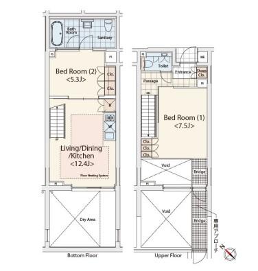 カスタリア初台Ⅱ104号室