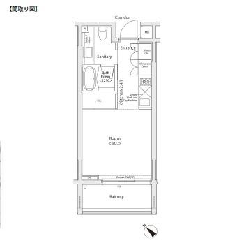 カスタリア初台Ⅱ207号室