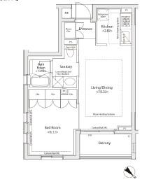 カスタリア初台Ⅱ505号室