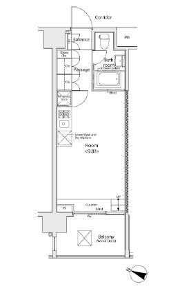 イプセ学芸大学206号室