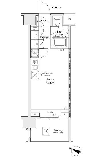 イプセ学芸大学402号室