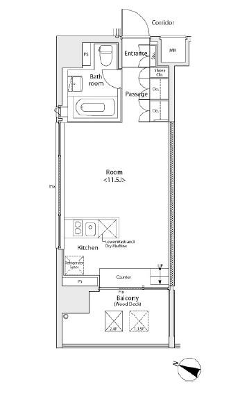 イプセ学芸大学503号室