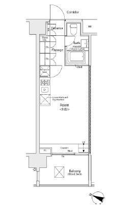 イプセ学芸大学705号室